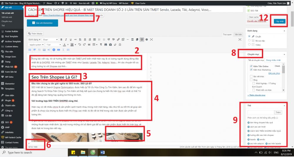 Cach Viet Bai Chuan Seo Tren WordPress