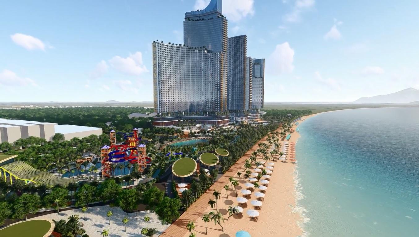 Sunbay Park Ninh Thuận có vị trí trung tâm Phan Rang – Tháp Chàm, cạnh eo biển Bình Sơn