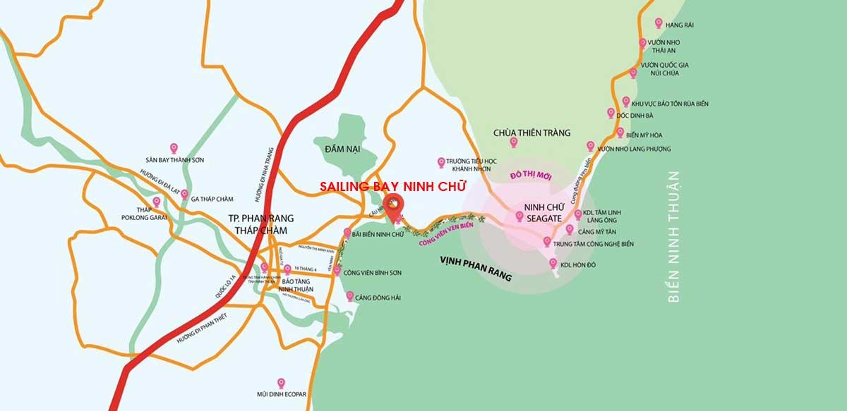 Đánh giá vị trí dự án Sailing Bay Ninh Chữ