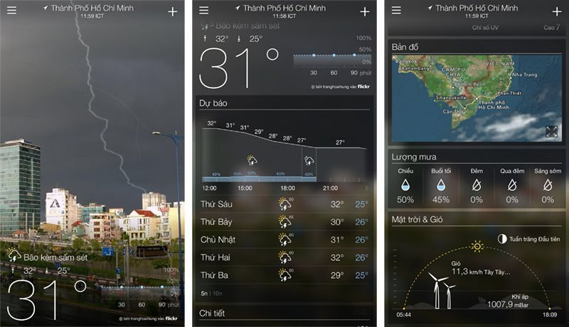 ứng Dụng Yahoo Weather