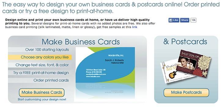 business card star