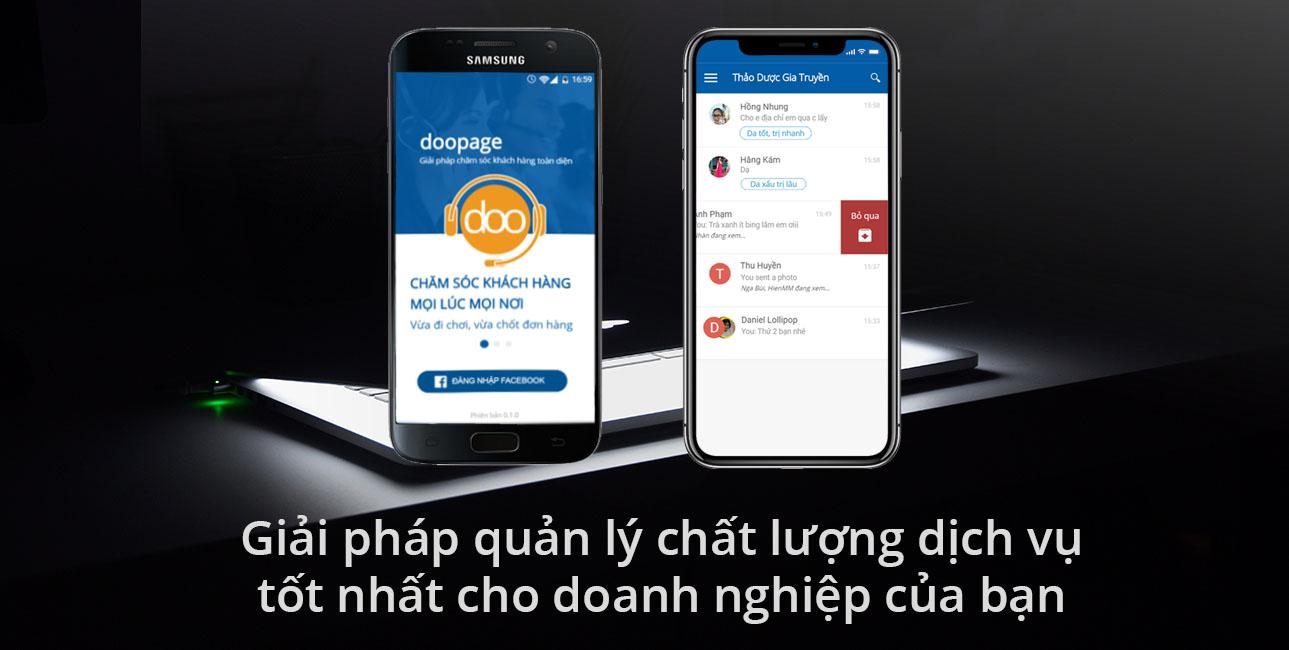 phần mềm doopage - Phần mềm kinh doanh, bán hàng trên Facebook hiệu quả Doopage