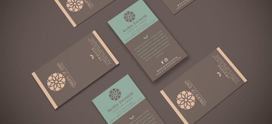 phong cách thiết kế card visit thanh lịch