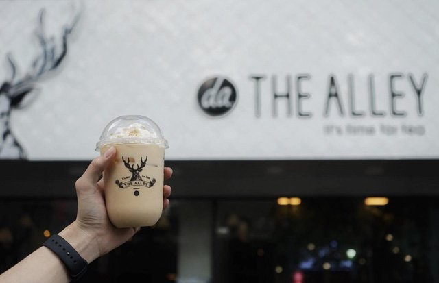 Nhượng quyền trà sữa The Alley
