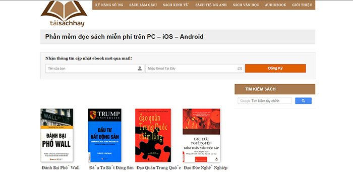 Website tải ebook miễn phí