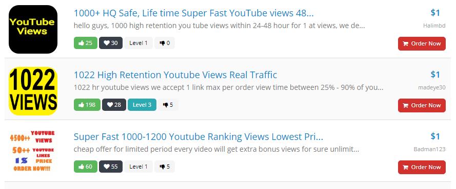 Hoặc cũng có nhiều dịch vụ cao cấp hơn, tăng nhiều views hơn. Đương nhiên giá sẽ chát hơn.