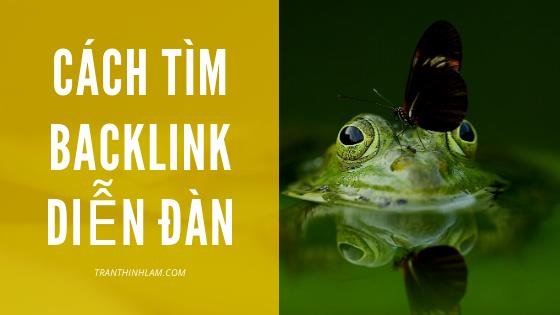 Cach Tim Backlink Dien Dan