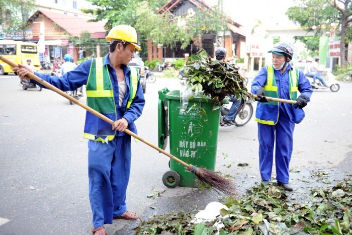 Công nhân vệ sinh môi trường