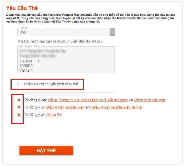 Cách đăng ký thẻ Payoneer MasterCard