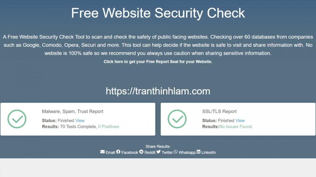 Công cụ SSLTrust sẽ kiểm tra bảo mật website