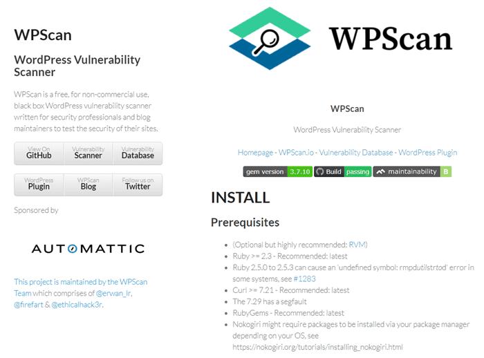 Công cụ WPScan