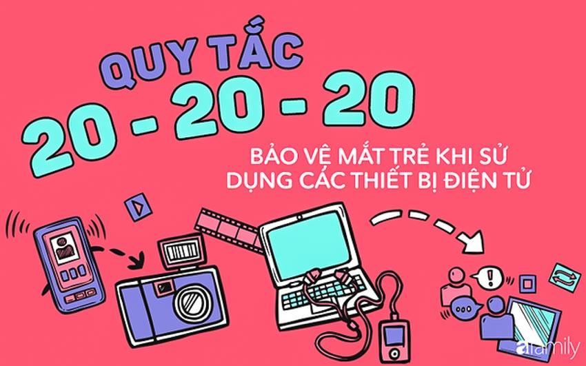 Bảo vệ mắt trẻ khi sử dụng các thiết bị điện tử bằng quy tắc 20-20-20