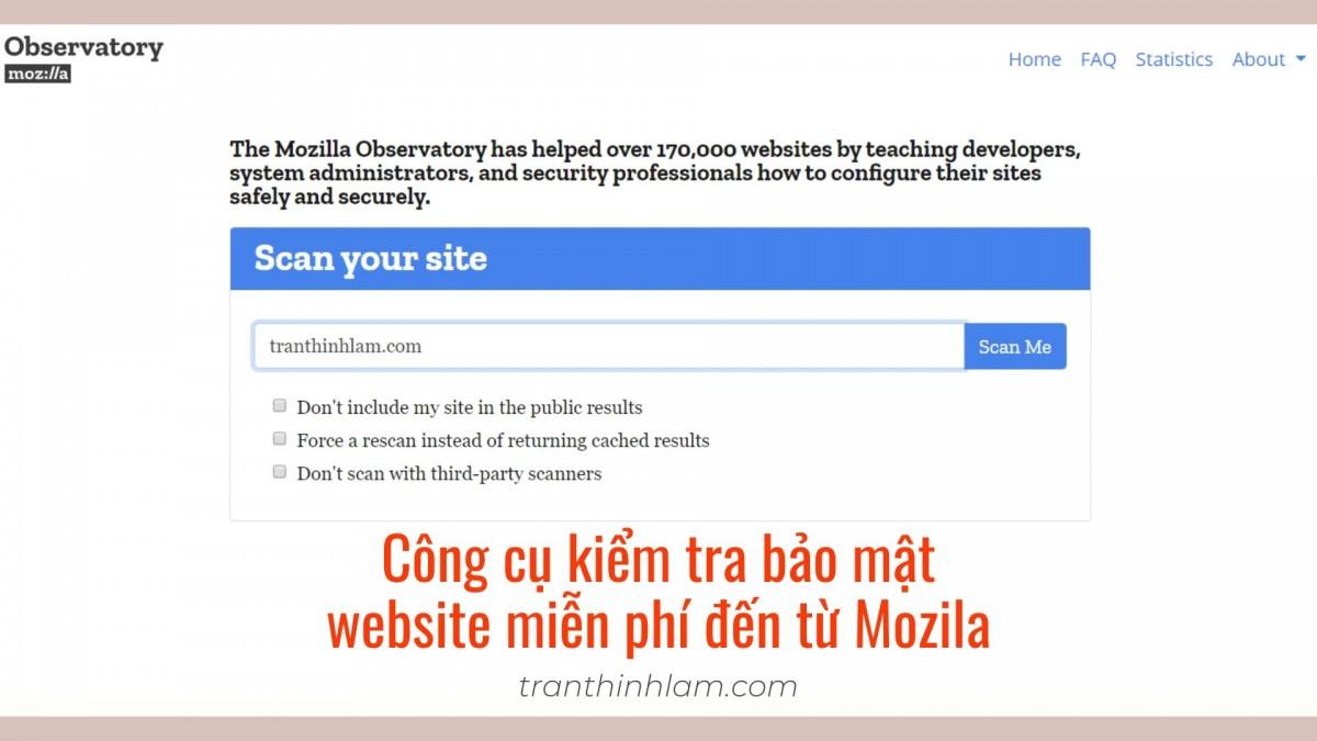 công cụ kiểm tra bảo mật website Mozila