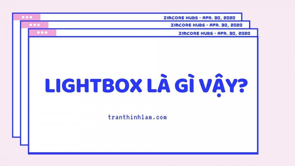 lightbox nghĩa là gì