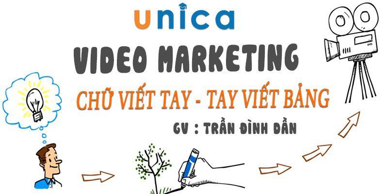 Video Marketing chữ viết tay - Tay viết bảng
