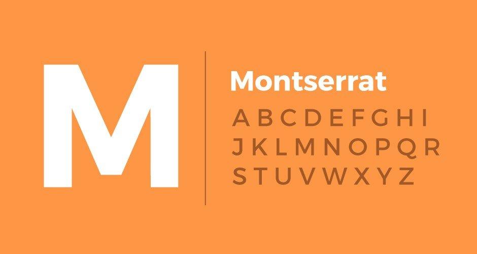 Font chữ đẹp Montserrat