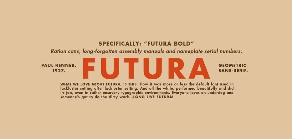 Futura trong Photoshop