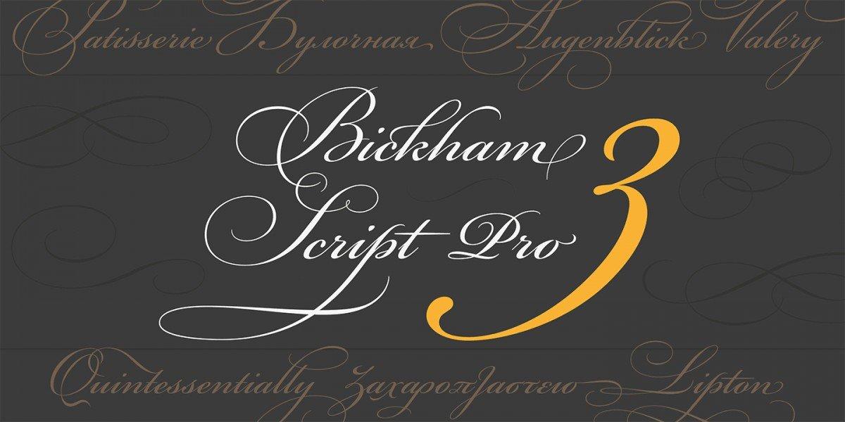 Font chữ đẹp Bickham Script Pro