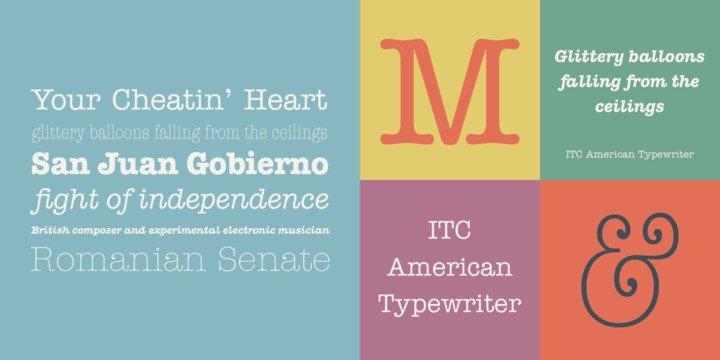 Font chữ đẹp American Typewriter