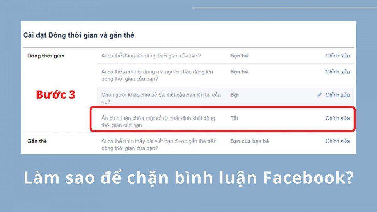 Làm sao để chặn bình luận Facebook?