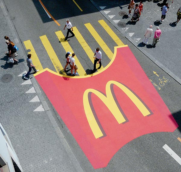 What is ambient advertising?