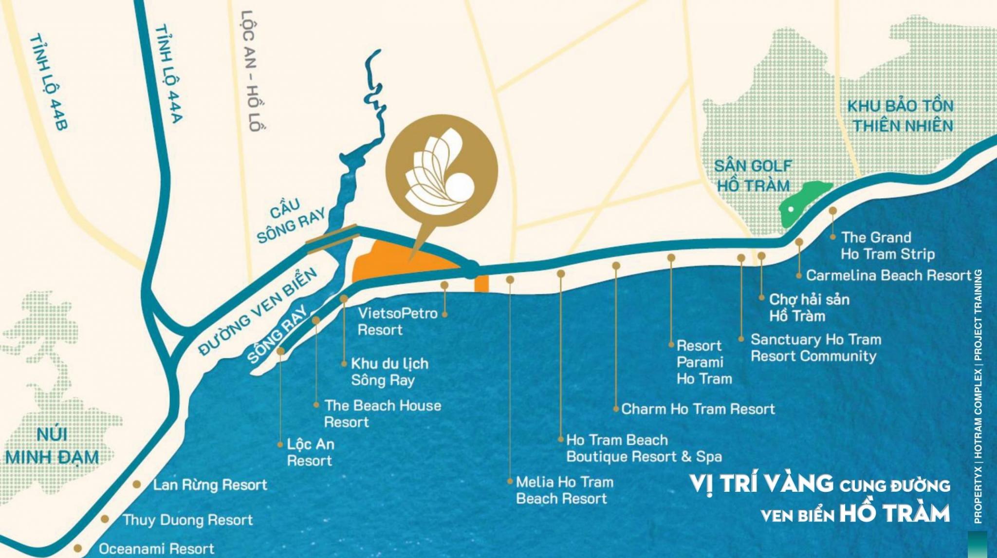 Vị trí dự án Ho Tram Complex
