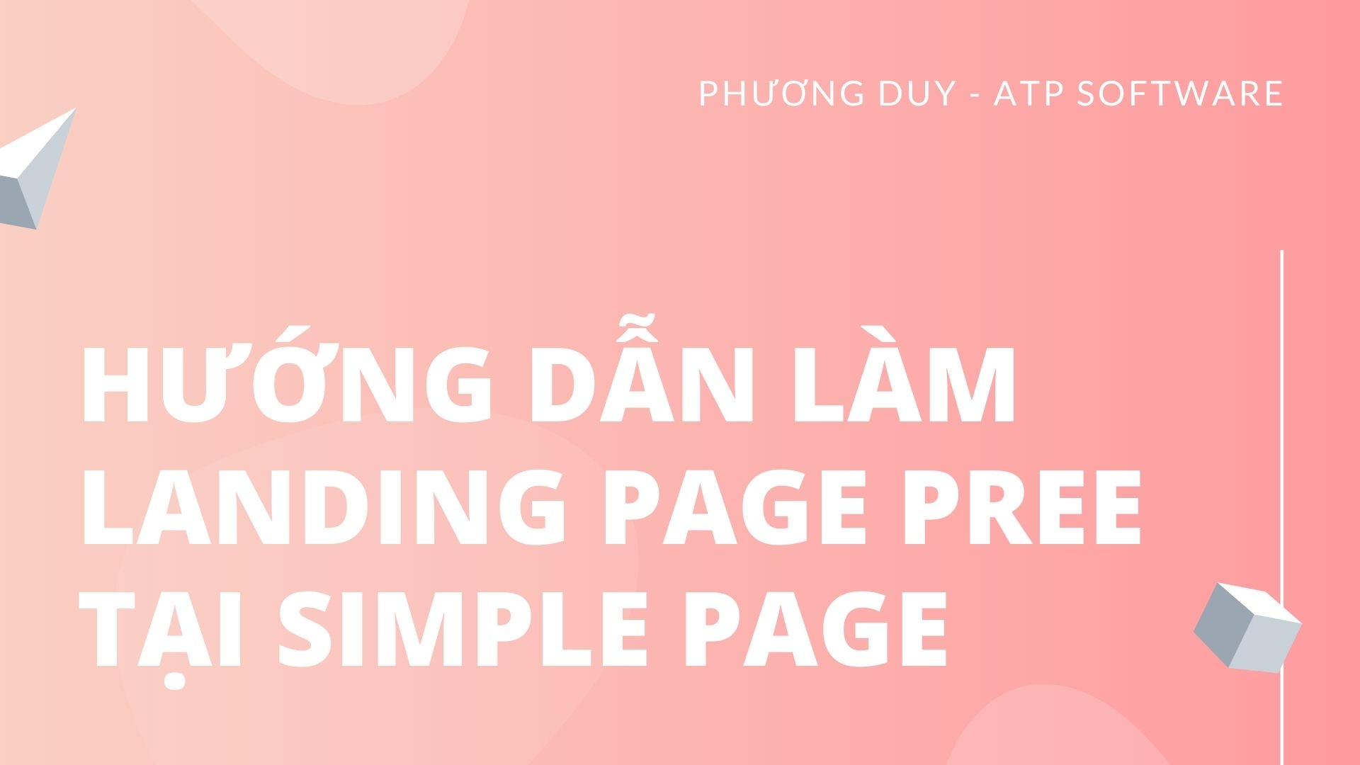 Cách làm Landing Page Pree