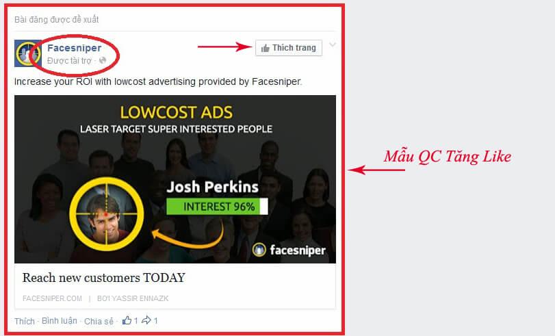 hình thức quảng cáo facebook hình ảnh 2