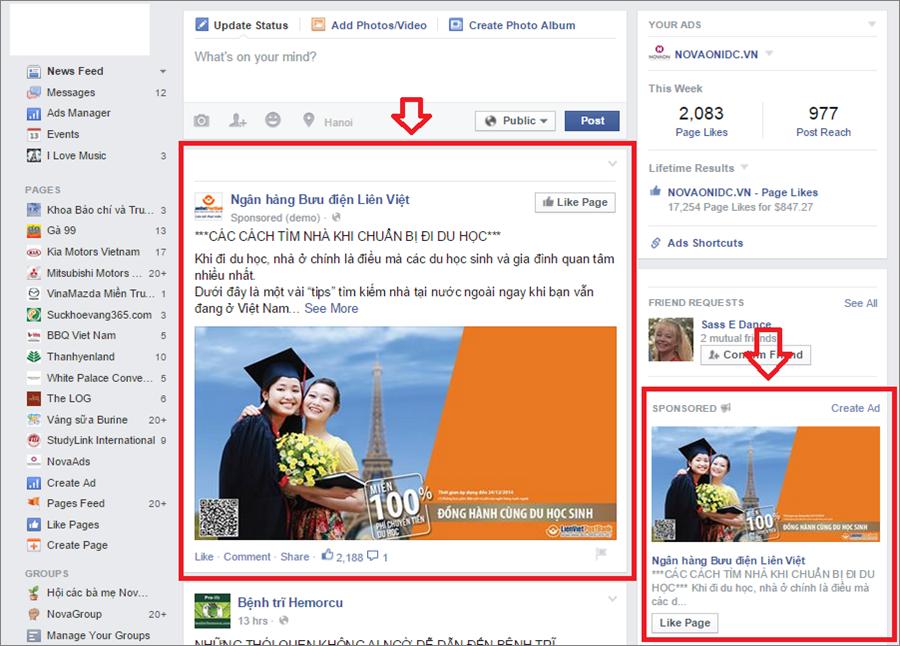hình thức quảng cáo facebook hình ảnh 1